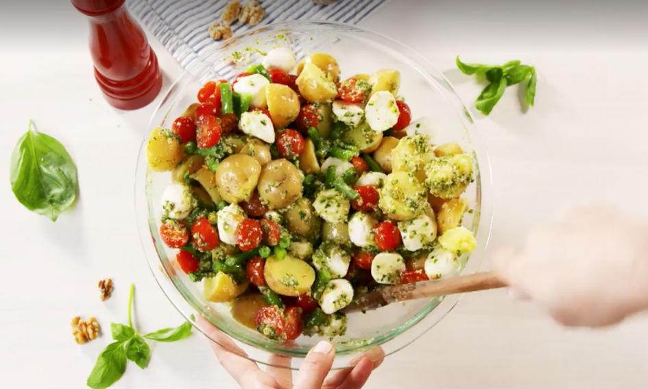 Pesto-aardappelsalade